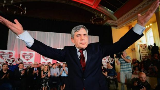 Former British prime minister Gordon Brown's impassioned plea at a rally in Glasgow for Scots to vote No was ...