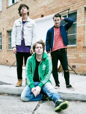 New era: Craig Nicholls (front) with Vines bandmates Tim John and Lachlan West.