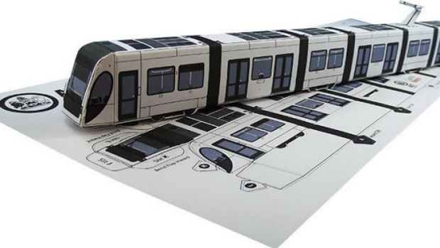 2000 cardboard fold-out model trams were bought for a cost of $3617.