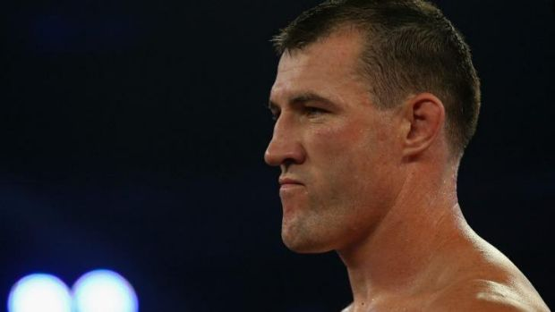Paul Gallen in the ring in February.