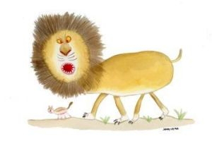 Roar talent: Olivia Lee, 6, had her lion picture completed by John in another popular competition earlier this year.