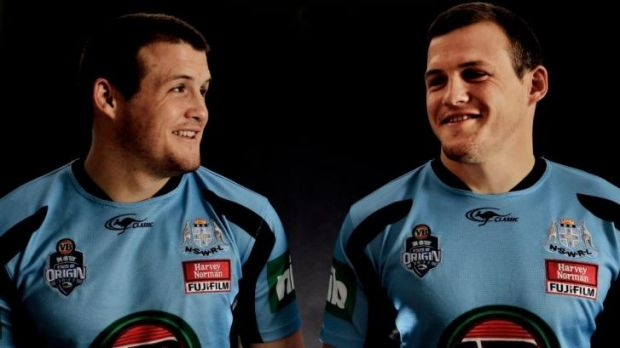 Talented twosome: Josh and Brett Morris during their time in the NSW State of Origin camp.
