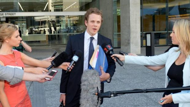 Dan Rogers, lawyer for suspected terrorist Omar Succarieh, speaks to the media outside court.