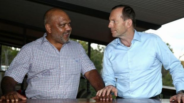 Prime Minister Tony Abbott meets with Noel Pearson, Chairman of the Cape York Group, during his visit to North East ...
