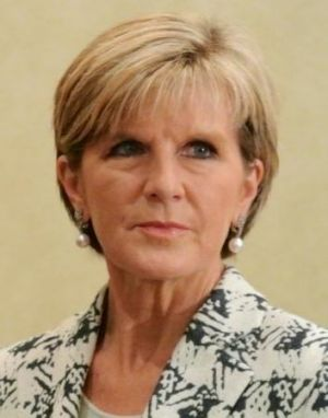 """Foreign Minister Julie Bishop has reiterated there is """"no intention"""" of sending Australian ground combat troops into ..."""