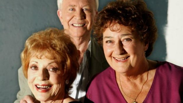 Elaine Lee, pictured left, with David Sale and Sheila Kennelly.