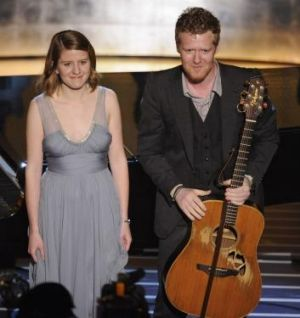 Marketa Irglova and Glen Hansard after performing their Oscar-winning song <i>Falling Slowly</i> at the 2008 Academy Awards.