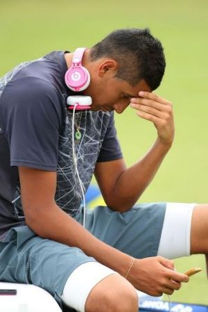 Nick Kyrgios is emotionally drained after a long season.
