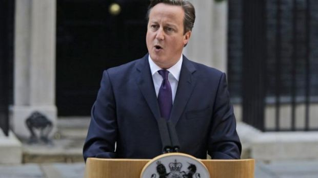 British Prime Minister David Cameron announces his plan for a Britain-wide constitutional shake-up in the aftermath of ...