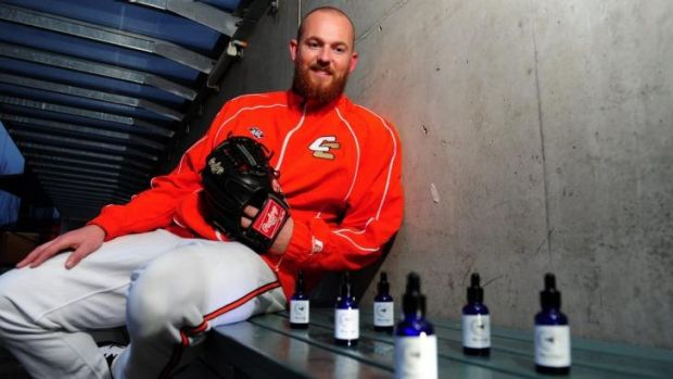 Cavalry pitching coach Hayden Beard has developed his own beard oil called 'Beardy's'.
