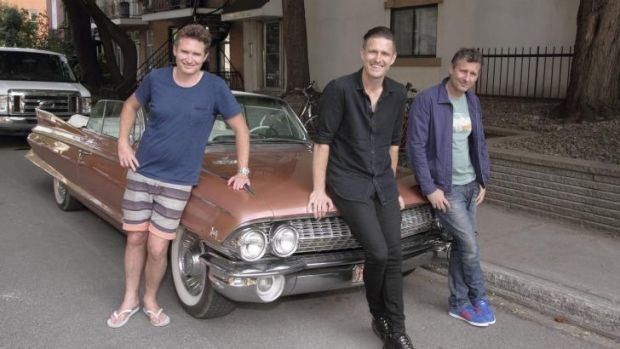 O Canadia: Dave Hughes, Wil Anderson and Adam Hills are the roving hosts of <i>Montreal Just For Laughs</i>.