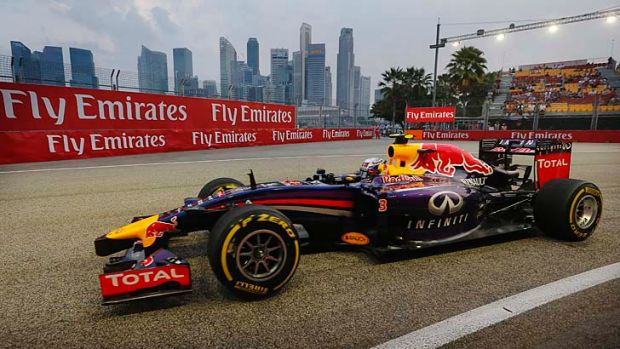 Singapore sling: Daniel Ricciardo in his formula one car.