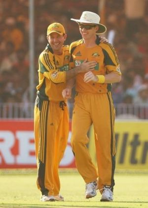 """""""As much as I love my baggy green, I love wearing a floppy hat because I hate getting sunburnt"""": Brett Lee, pictured in ..."""