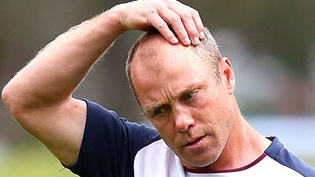 Scratching his head:  Geoff Toovey.