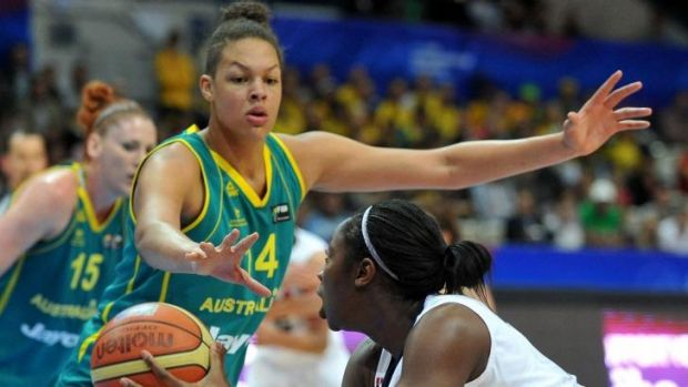 Out for a long spell: Opals centre Liz Cambage.