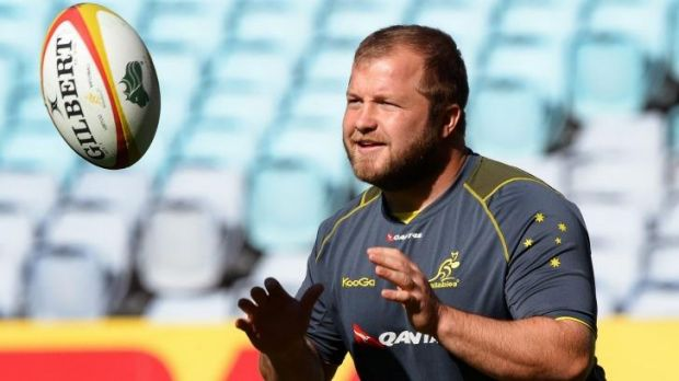 Perplexing: returning prop Benn Robinson's Wallabies omission  shocked many.