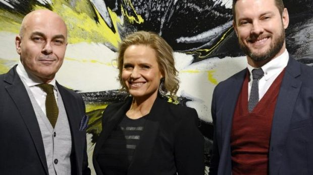 Harsh words ... <i>The Block</i> judges Neale Whittaker, Shaynna Blaze and Darren Palmer.