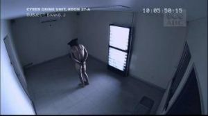 An interrogation scene from the ABC TV political thriller The Code.