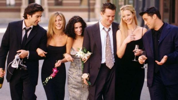 They'll be there for you: <i>Friends</i> is celebrating it's 20th birthday, (from left), David Schwimmer, Jennifer ...