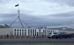Canberra's best parking spot ever, as seen in the opening minutes of The Code.