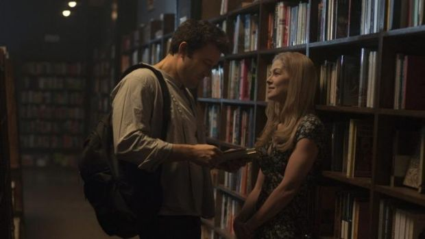 Personable: Nick (Ben Affleck) and Amy (Rosamund Pike) display some genuine rom-com moments in <i>Gone Girl</i>.