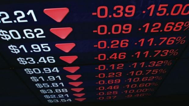 Banks and miners suffered heavy losses on Monday.