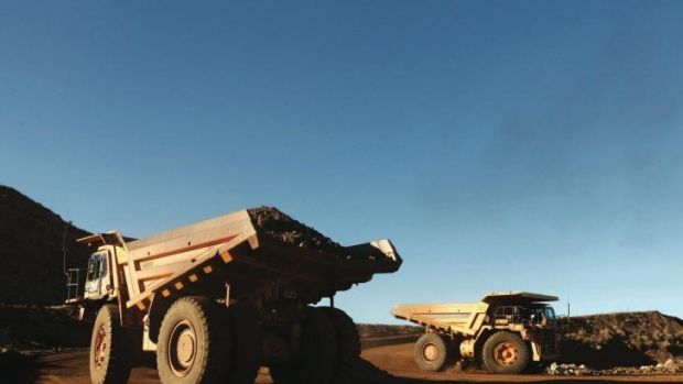 The price of iron ore is down close to 40 per cent this year.