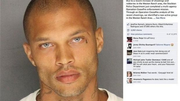 Jeremy Meeks' police mugshot Photo: STOCKTON POLICE DEPT