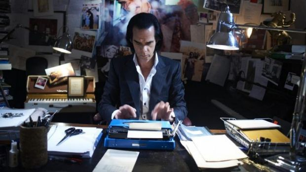 Nick Cave in a scene from the film <i>20,000 Days on Earth</i>.
