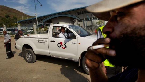 G4S security in Port Moresby, PNG.
