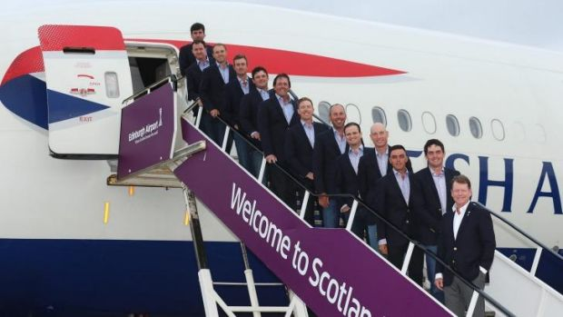 The USA team arrive in Edinburgh.
