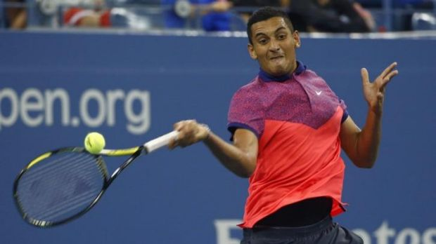 Rising star: Nick Kyrgios at the US Open.
