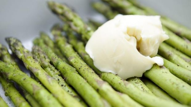 Tasty: Lush growing asparagus needs an enormous amount of feeding and watering.