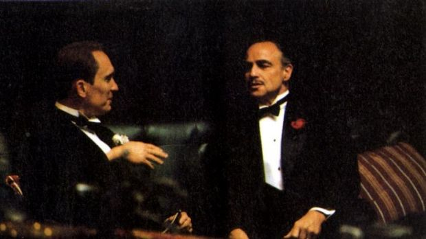 Blockbuster: Marlon Brando and Robert Duvall in the 1972 film <i>The Godfather</i>.