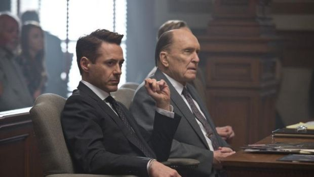 Collaboration: Robert Downey Jnr as Hank Palmer and Robert Duvall as Joseph Palmer in the film <i>The Judge</i>.