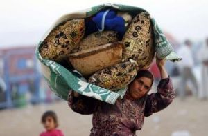More than 130,000 Syrian Kurdish refugees have fled to Turkey since Friday.