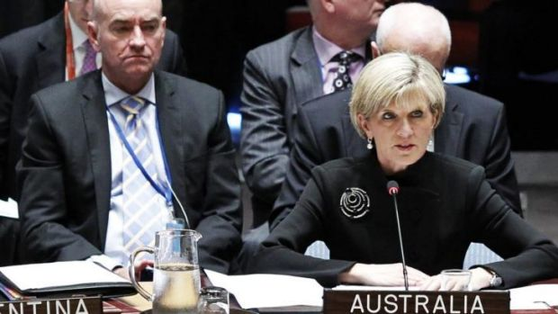Modest climate targets: Australian Foreign Affairs Minister Julie Bishop at UN headquarters in New York.