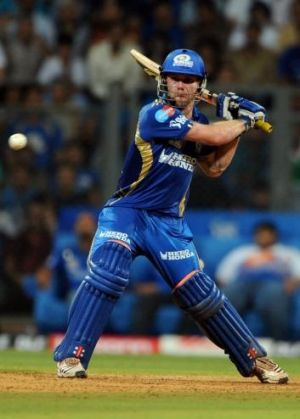 Aiden Blizzard hitting out for the Mumbai Indians in 2011.