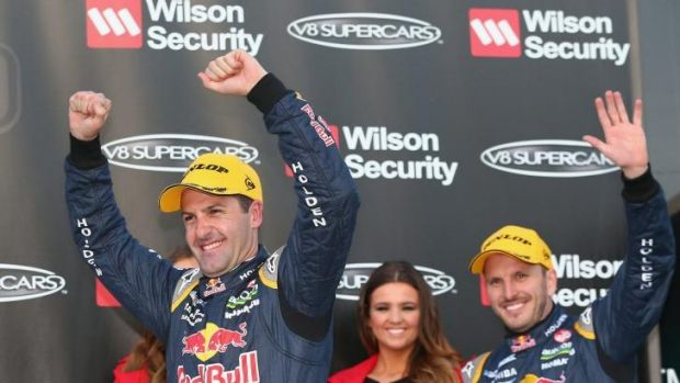 Whincup, left, is looking forward to the new Penske challenge.