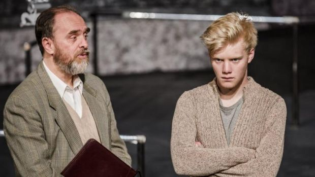 Jerry Hearn, left, and Benjamin Hardy star in Peter Shaffer's Equus, directed by Barb Barnett.