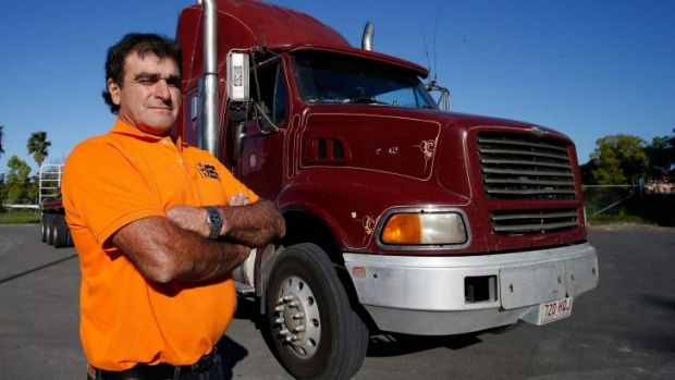 """""""No one  wants to risk lives"""": Truck driver Frank Black."""