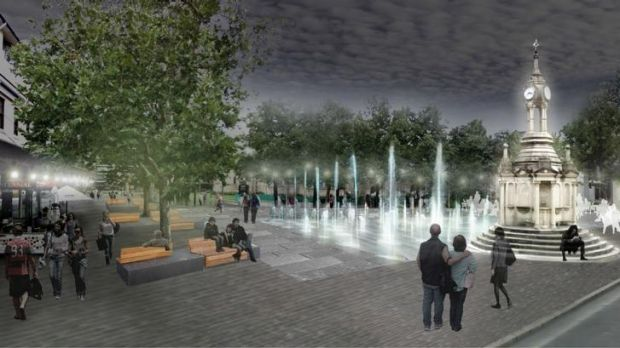 Mall makeover: An artist's impression of the new redevelopment of Church Street Mall in Parramatta.