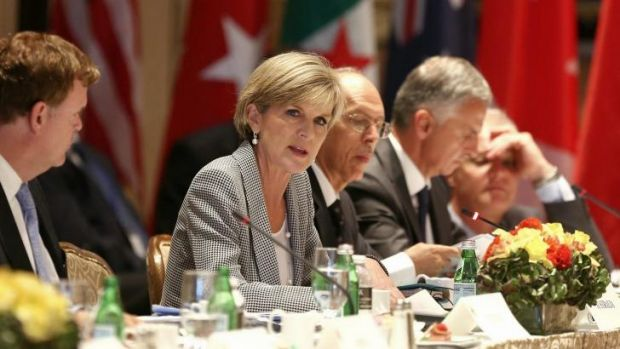 Foreign Affairs Minister Julia Bishop addresses the Global Counterterrorism Forum in New York on Tuesday.