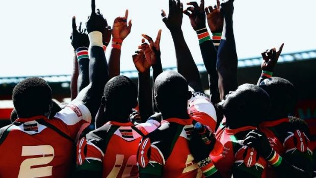 Money troubles: the Kenyan sevens team.