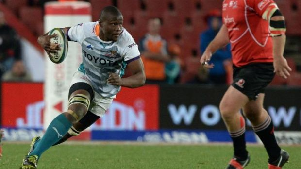 Mohoje in action for the Cheetahs.