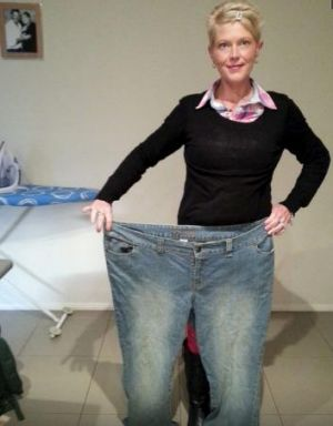 Fiona Wardrop after her weight-loss surgery.