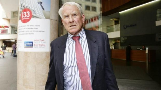 Brickworks chairman Robert Millner leaves an ICAC hearing earlier this month.