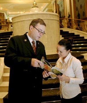 Peter McBrearty, concierge at the Langham Hotel.