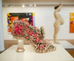 <i>Glass slipper (ugly blister)</i> by Timothy Horn on display for the opening of the NGA Contemporary Art Space at ...