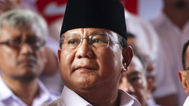 Losing Indonesian presidential candidate and retired general Prabowo Subianto.